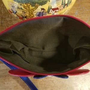 None Bags - Minnie Mouse Bow Cosmetic Bag Navy and Red